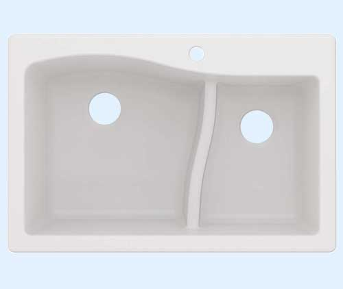 Kraus KGD-442WHITE Quarza Granite Kitchen Sink
