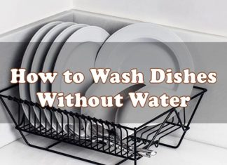 How to Wash Dishes Without Water